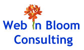 Web in Bloom Logo